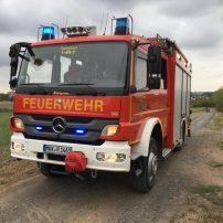 HLF Front Feuerwehrauto Hilfeleistungslöschgruppenfahrzeug Blaulicht